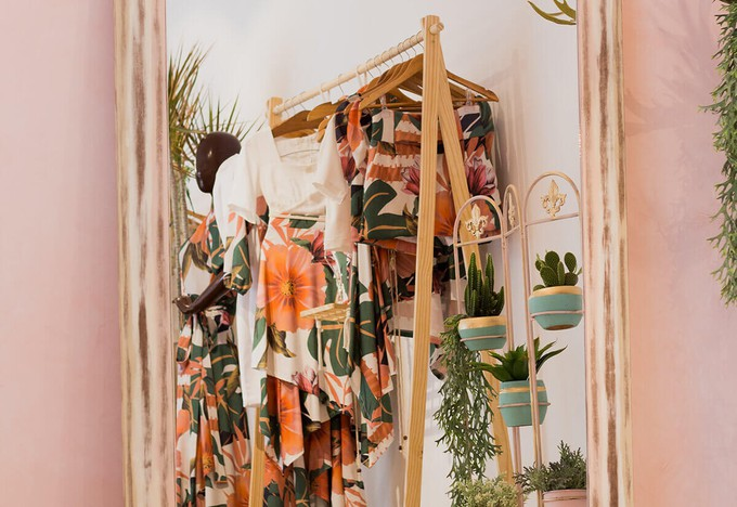 A wardrobe being decluttered to ditch fast fashion and switch to ethical fashion