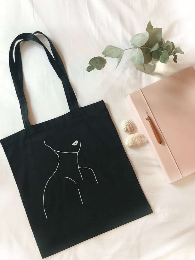 La Femme embroidered tote bag