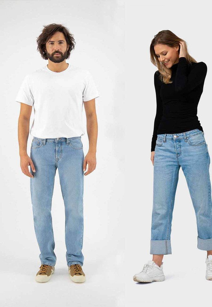 Relax Fred Hevy Stone sustainable jeans by Mud
