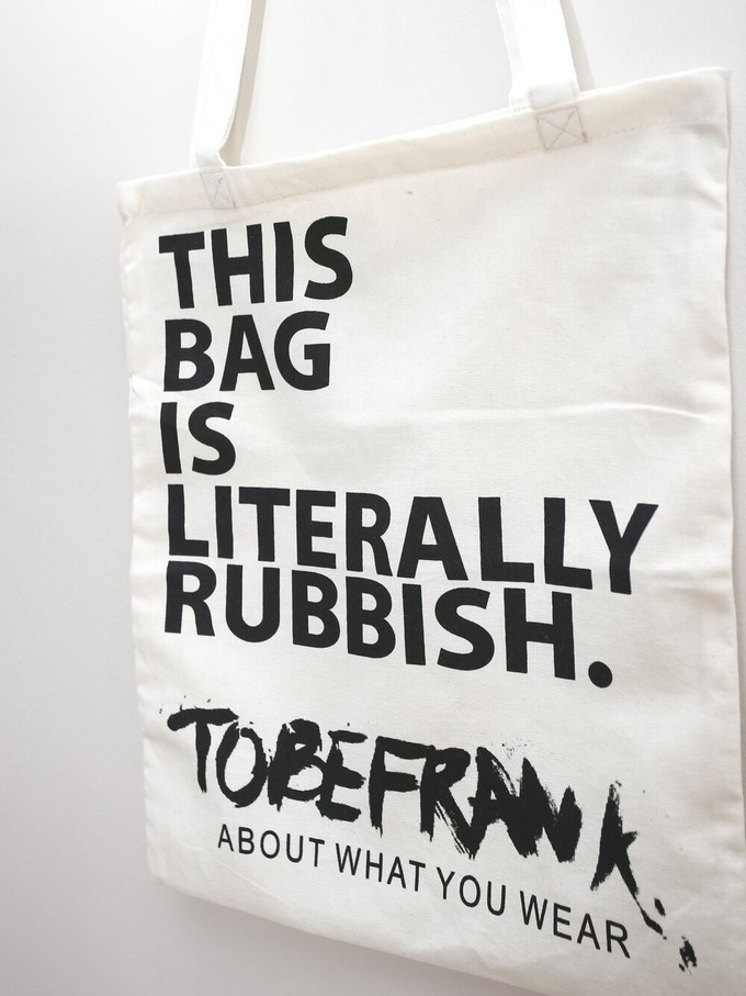 This bag is rubbish - recycled tote bag