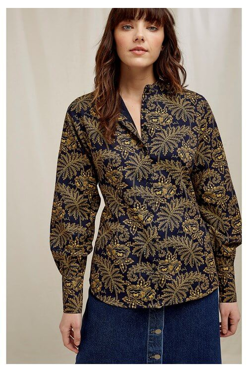 V&A Rosa Print sustainable blouse
