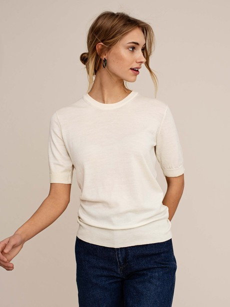 Cipress knitted jumper - Off-white from Arber