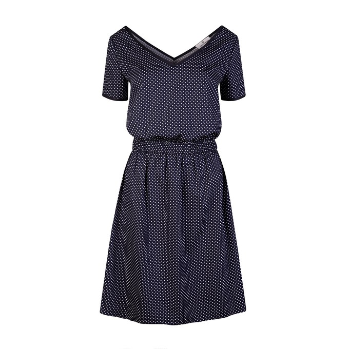 Navy Polka Dot Dress from Cat Turner London