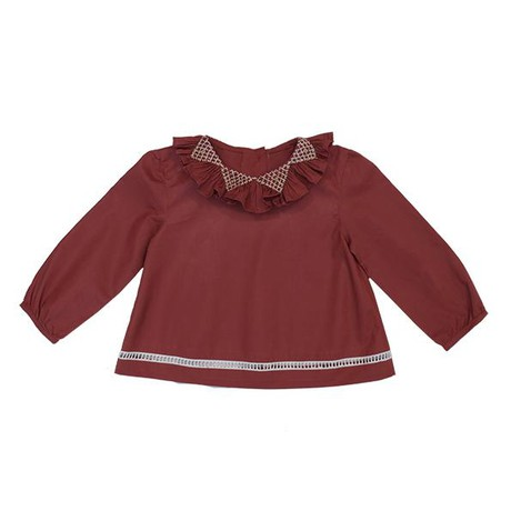 Zoe baby blouse- brique from Citron Jaune