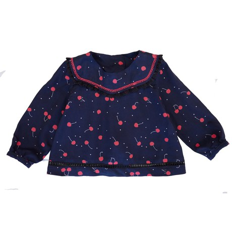 Heliana baby blouse- cherries from Citron Jaune