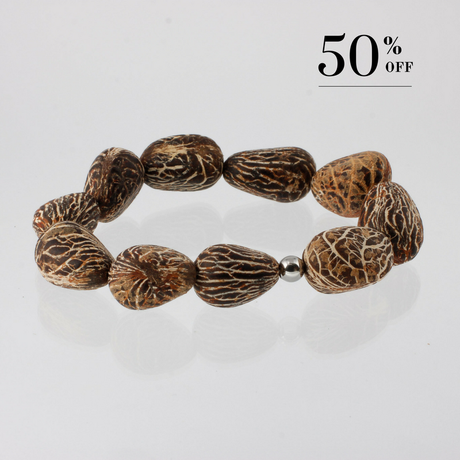 Chonta nut bracelet silver 50% SALE from Julia Otilia