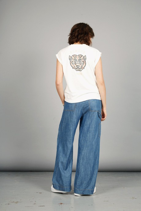 MANTRA TIGER - GOTS Organic Cotton Tee Off-White from KOMODO