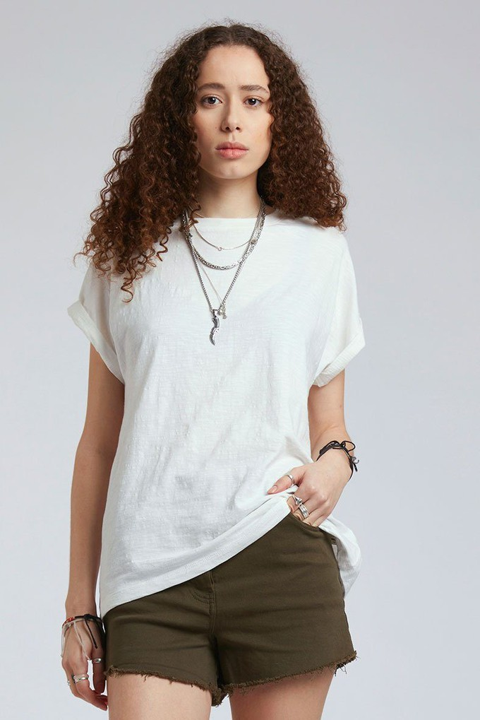 SUNRISE - GOTS Organic Cotton Tee Off White from KOMODO