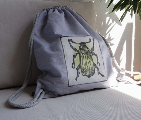 yellow beetle canvas backpack from madeclothing