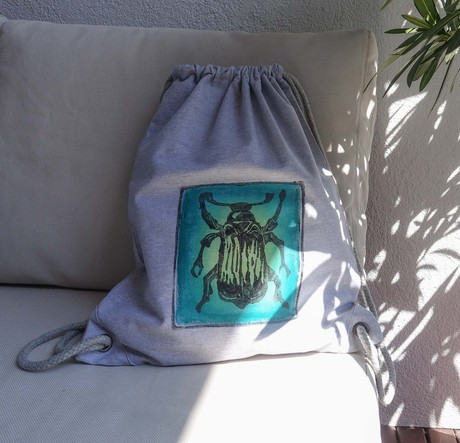 green beetle canvas backpack from madeclothing