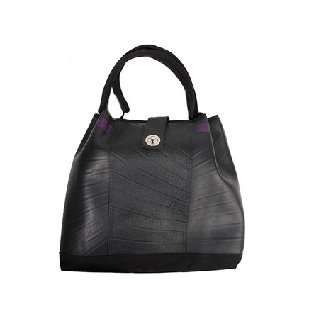 Anna Recycled Rubber Vegan Tote Bag (2 Colours Available) from Paguro Upcycle