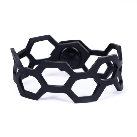 Belinda Geometric Thin Inner Tube Bracelet from Paguro Upcycle