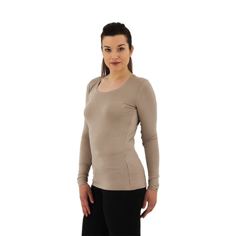 The Original Longsleeve – Taupe from Royal Bamboo
