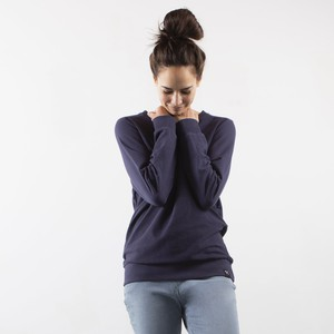 Sweatshirt Inside Out - Recycled Organic Cotton - Navy blue and light green from The Driftwood Tales