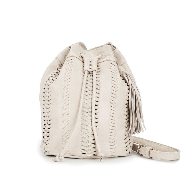 Drifter leather crossbody - cream from Treasures-Design