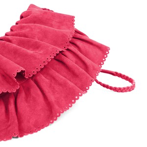 Tara - layered suede boho crossbody bag - cherry from Treasures-Design