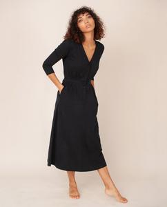RUTH Organic Cotton Dress In Black from Beaumont Organic