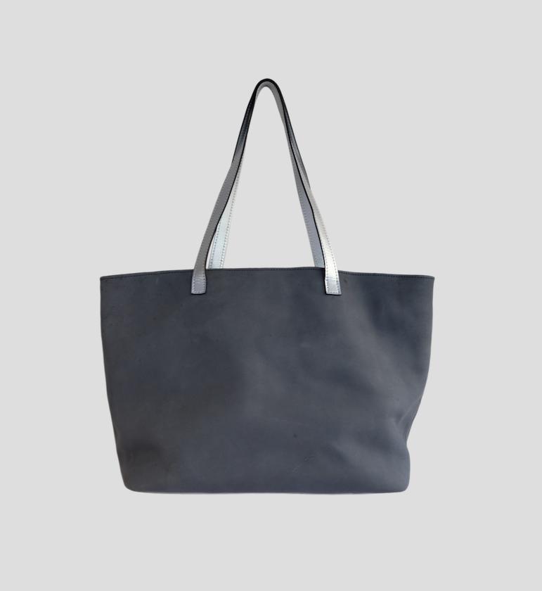 Steven Soft Grey & Silver Clutch from FerWay Designs
