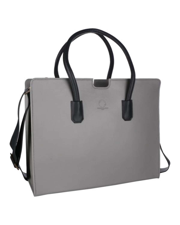 Qua Grey Laptop Bag from Funky Kalakar