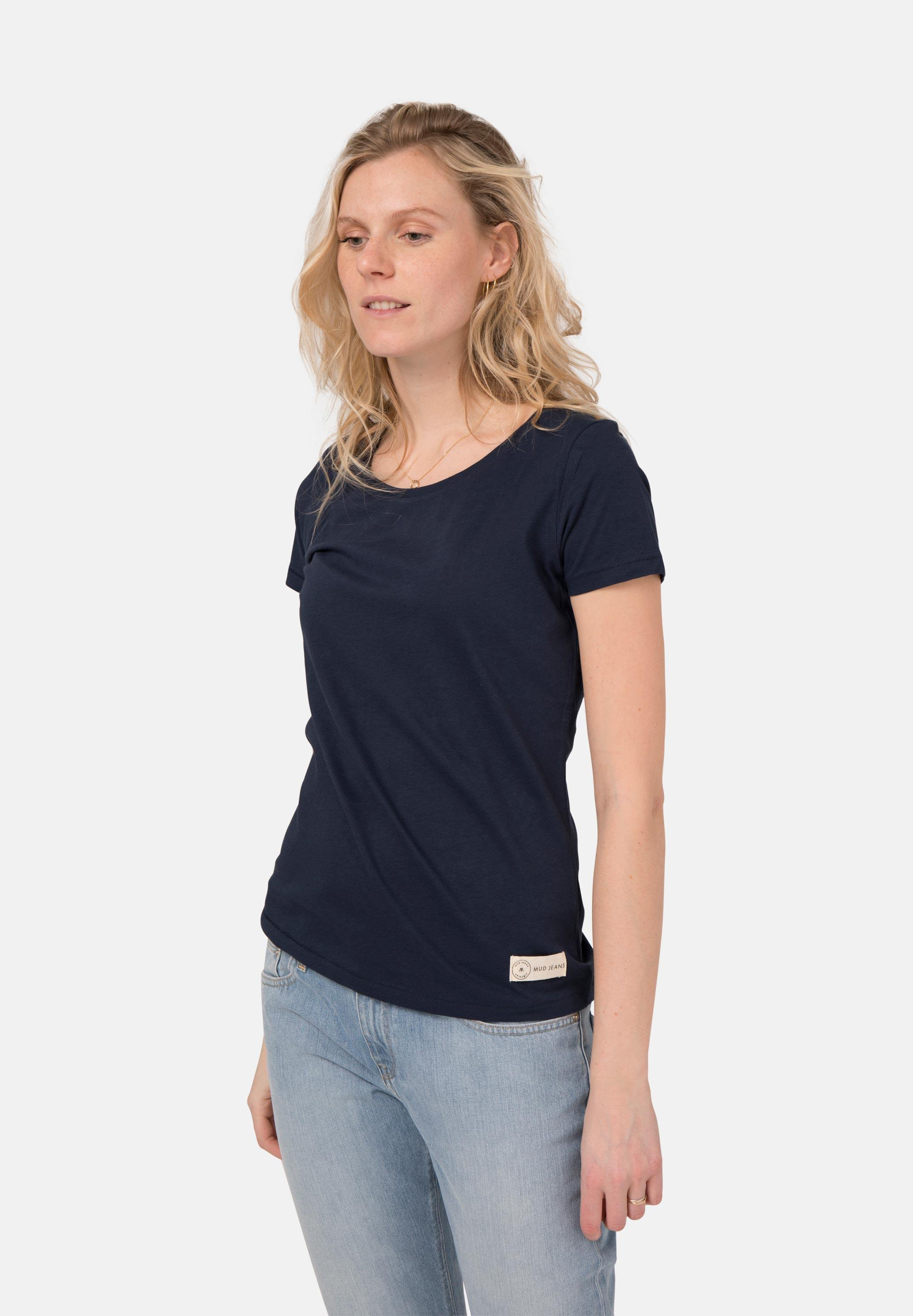 Roundneck T-Shirt / Deep Blue from Mud Jeans
