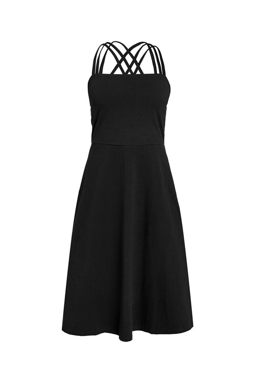 Riley Strappy Dress in Black from People Tree