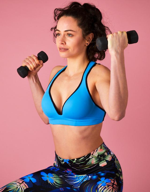 aa287d51d86581 Project Cece   Blue Sports Bra Leilani – Gym To Swim®