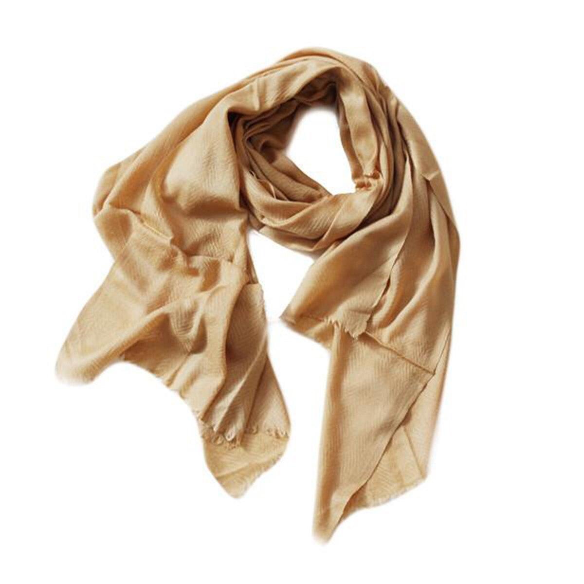 Caramel Wool Blend Scarf from Siyana London