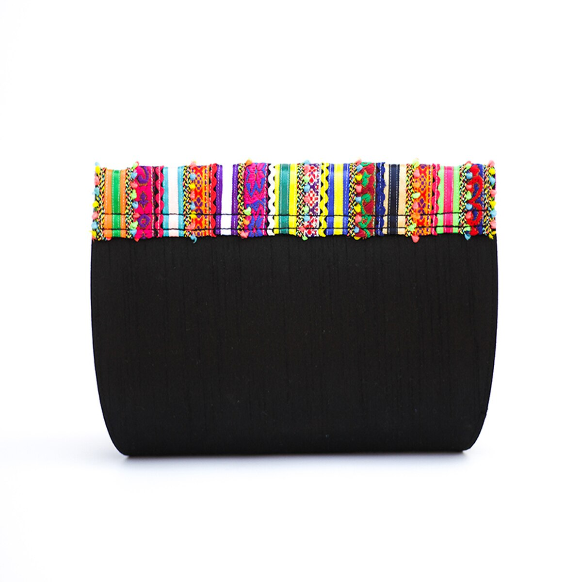 Black Rabari Vegan Clutch Bag from Siyana London