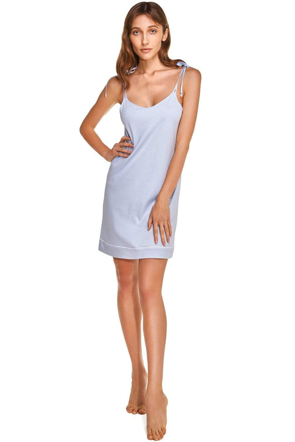 Women's Night Dress in Organic Luxury Cotton. from Slow Nature