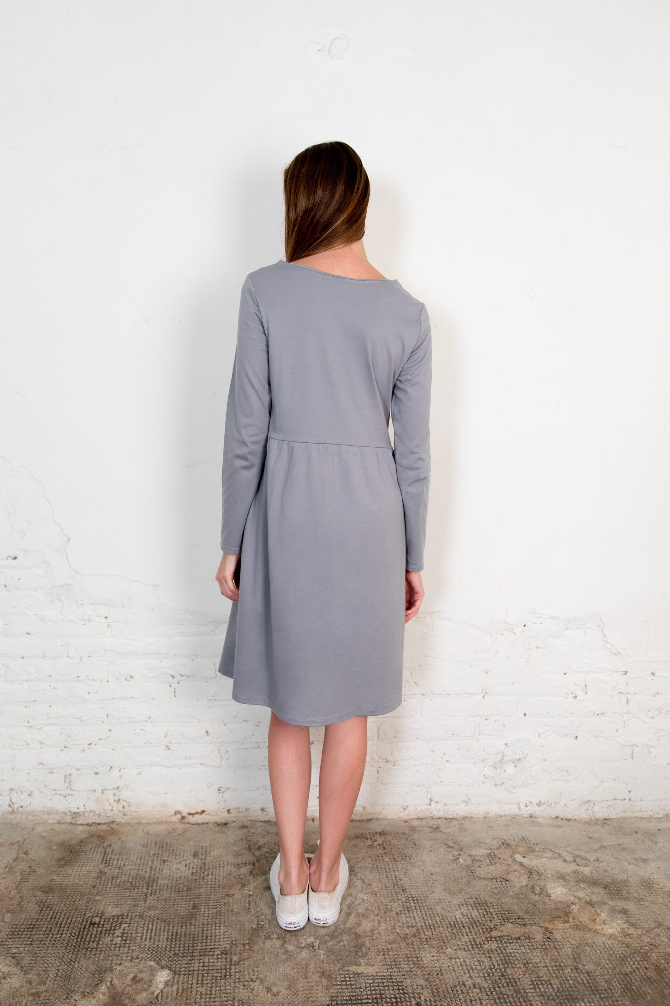 Annor dress gray from The Nordic Leaves