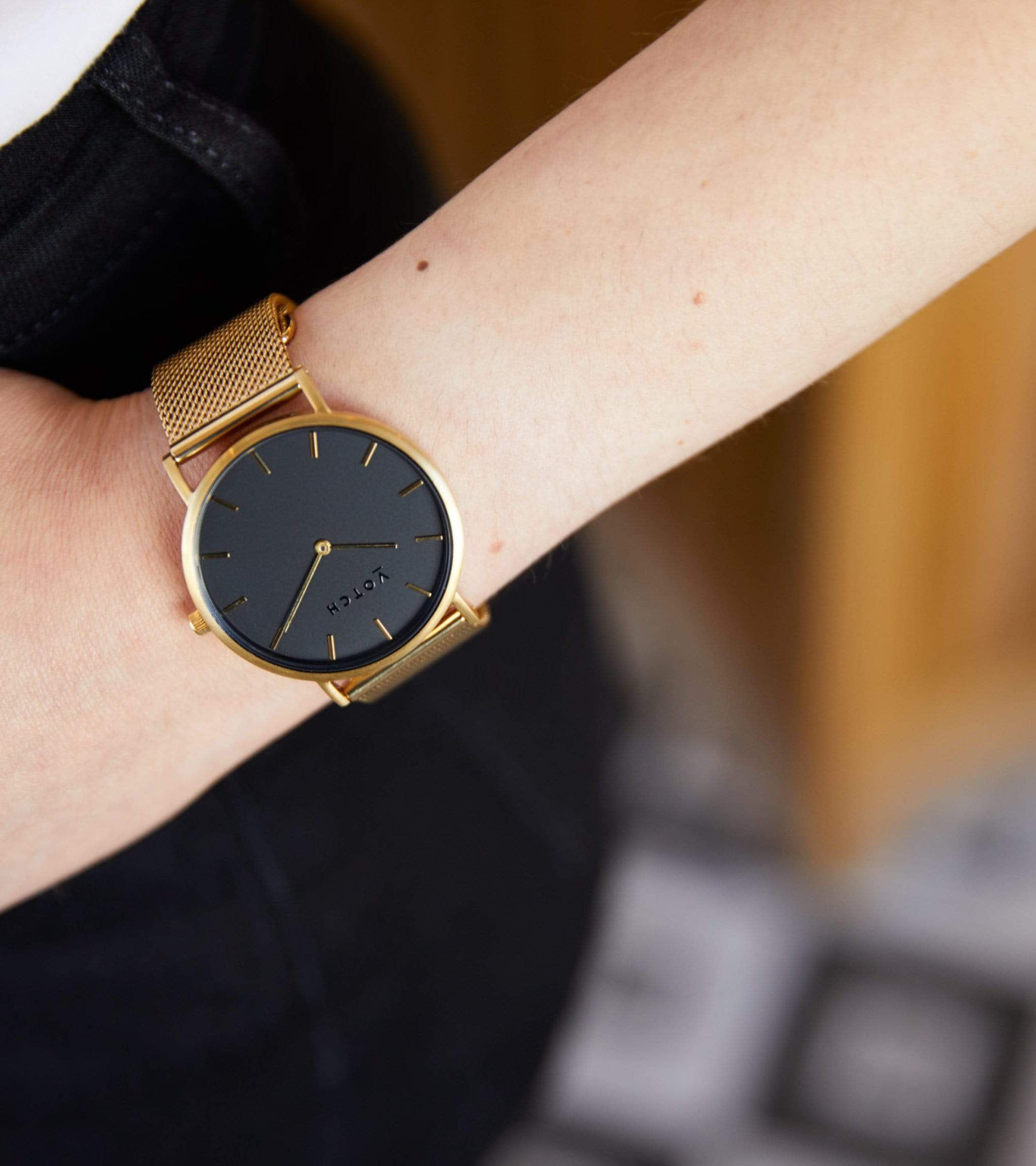Gold & Gold with Black   Mesh Classic from Votch